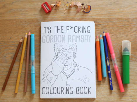 Celebrity Chef Coloring Books - This Gordon Ramsay Coloring Book Depicts Disappointed Illustrations