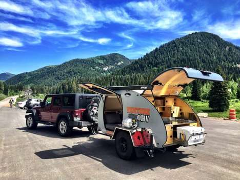 Rugged Teardrop Trailers - This Off Highway Vehicle is Designed For Bold Outdoor Exploration