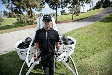 Jetpack Golf Carts - The Martin Jetpack 'BW-Air' is Tested by PGA Champion Bubba Watson