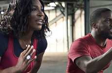 Celebrity-Branded Workouts - Serena Williams & Kevin Hart Team Up for a Nike App Workout