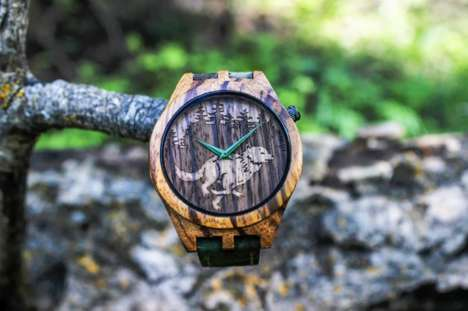 All-Natural Wood Watches - The 'True North' Collection is Inspired by Outdoor Adventures