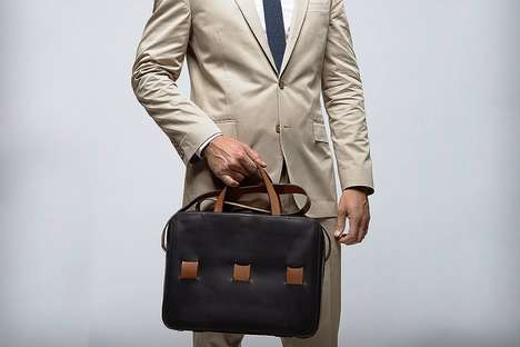 Personalized Bespoke Briefcases - The Anson Calder Tote Designs Are Custom to the Owner's Belongings