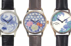 Japan-Inspired Porcelain Watches - Paul Gerber Collaborated with a Japanese Brand to Create Watches