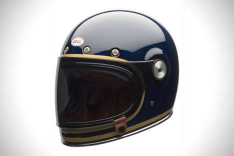 Composite Carbon Helmets - The Bell Beullitt Blue Motorcycle Headgear is Durable And Lightweight