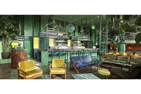 European Tropical Interiors - Netherlands-Based 'Bar Botanique' is Inspired by the Tropics