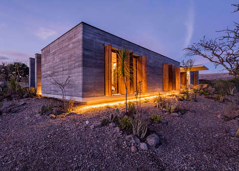 Sustainable Rammed-Earth Houses - Casa Candelareia is Built from Soil Excavated On-Site
