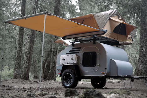 Customizable Teardrop Trailers - The Terradrop Trailer is Made from Off-Road Adventures