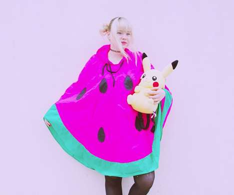 Fruit-Themed Rain Gear - INU INU's Watermelon Poncho Makes Staying Dry More Fun