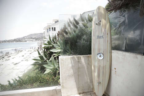 Outdoor Surfboard Showers - The Strand Pier Surfboard Shower is Both Stylish and Functional