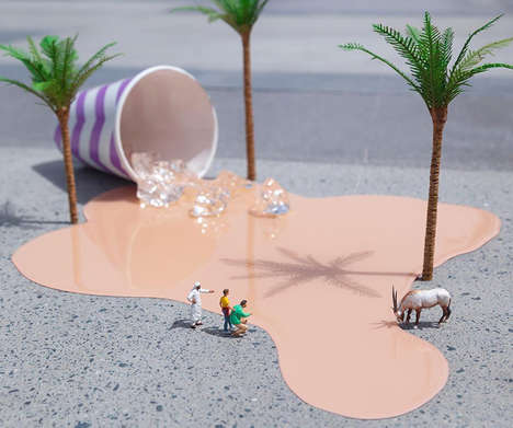 Miniature Urban Deserts - Slinkachu's 'Little People' Project Expands to Show Desert Scenes in Dubai