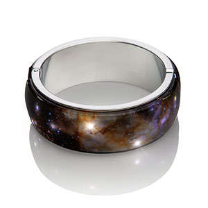 Illuminating Galaxy Bangles - The Celestial Fireworks LED Bracelet Replicates the Colored Explosions