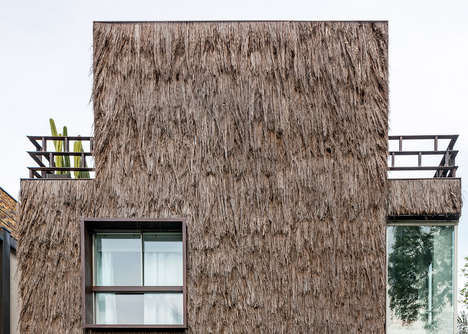 Tree-Textured Home Exteriors - This Home Was Inspired by Indigenous Brazilian Housing