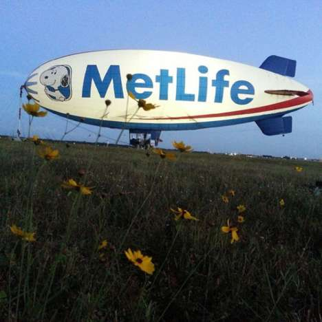 Branded Blimp Photography - The MetLife Blimp's Instagram Page Details the Blimp's Adventures