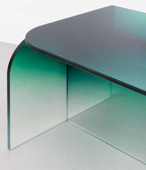 Colored Glass Furniture - 'Tilted Shaping Colour' is a Contemporary Spin on Mid-Century Modern Style