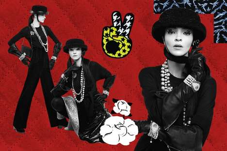 Collage Fashion Campaigns - The Ads for Chanel Fall 2016 are Creative Collages