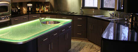 LED Glass Countertops - These Countertop Designs are Breaking the Mold