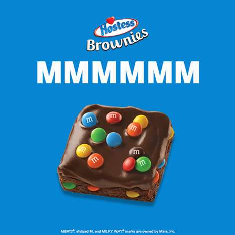 Co-Branded Snack Cakes - The New Hostess Brownies are Made with Popular Candies