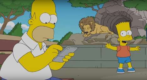 Anime Parody Promotions - A New Simpsons Parody Shows Homer Playing Pokémon Go at the Zoo