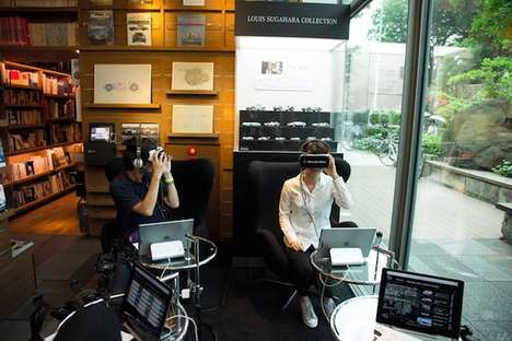 Automotive Bookstore Showrooms - This Virtual Mercedes-Benz Showroom is Set Up in a Tokyo Bookstore