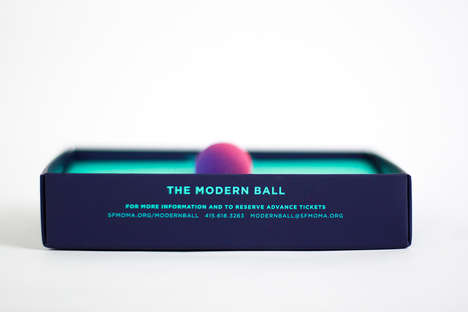 Playful Ball Invitations - This Save the Date for SFMOMA's Modern Ball Features an Actual Ball