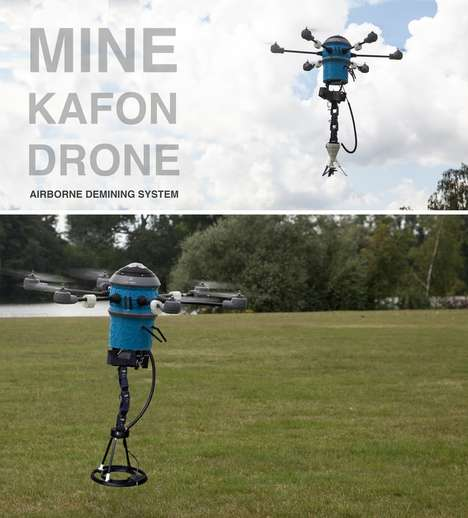Land Mine-Detecting Drones - The 'Mine Kafon Drone' Can Detect and Detonate Mines Safetly