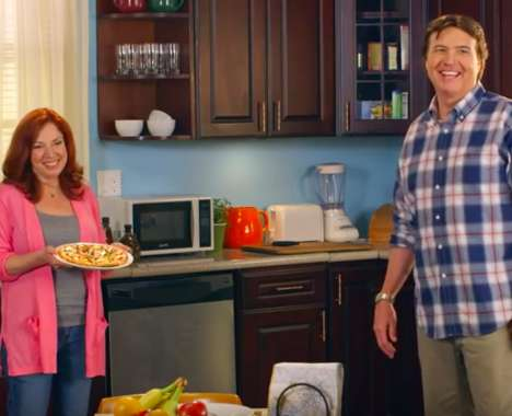Sitcom-Inspired Pizza Ads