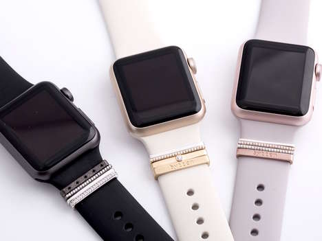 Bejeweled Smartwatch Accessories - The Bytten Glam Stacks Add Bling Detailing to Apple Watch Bands