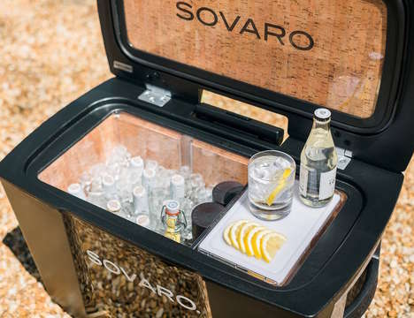 Luxe Roller Coolers - The Sovaro Food Bins Provide a Simple Way to Cart The Accessory to-And-From