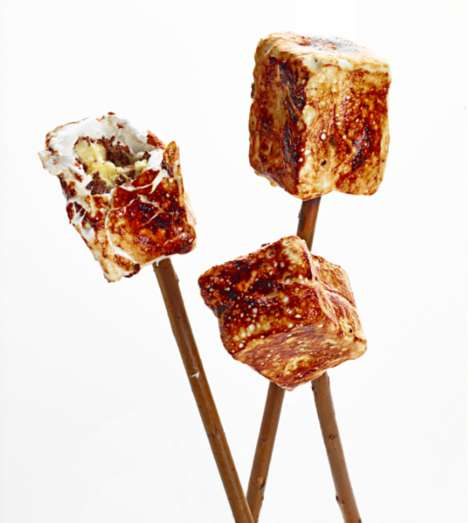 Frozen S'more Snacks - This Dominique Ansel Creation Reverses the Traditional Campfire Snack