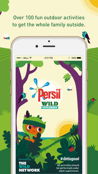 Branded Activity Apps - Persil's App for Activities Suggests Ways Families Can Have Fun Outside