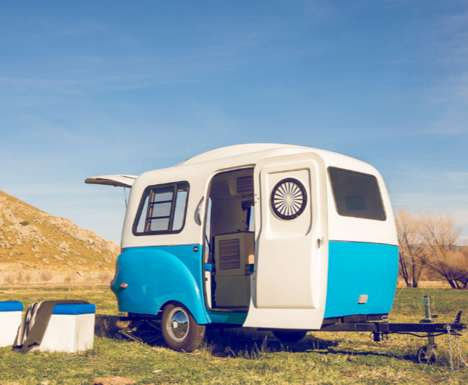 Comfortably Modern Campers - The 'HC1' Mobile Camper Offers Convenient Comforts on a Small Scale