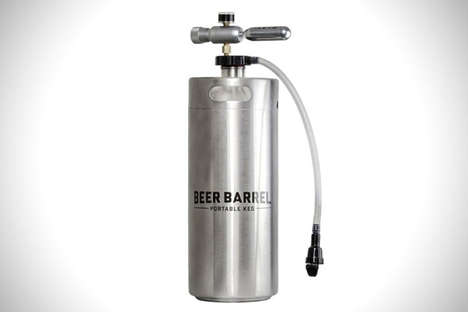 Portable Barrel Kegs - The Beer Barrel Offers a Convenient Beer Tap to Use in Outdoor Settings