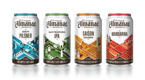 Farm-to-Table Beer Branding - Almanac Fresh Beer Series Packaging Reflects its Agricultural Brewing