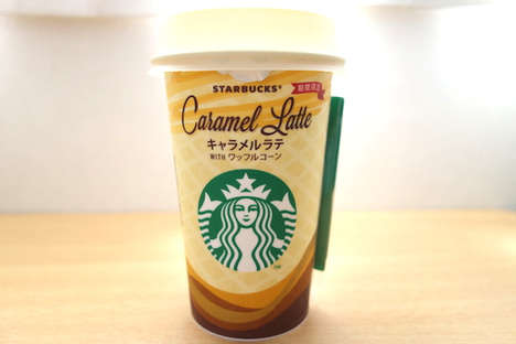 Wafer-Flavored Lattes - Starbucks Japan's Caramel Latte is Infused With a Waffle Cone Taste