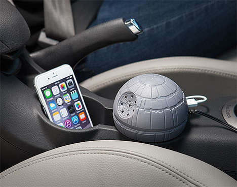 Galactic Station Car Chargers - This USB Auto Charging Port is Modelled After the Iconic Death Star