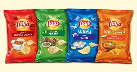 International Chip Flavors - Lay's is Celebrating the Olympics with Exotic New Chip Flavors