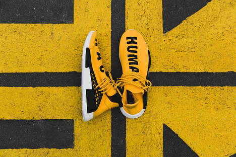 Vibrant Celebrity-Designed Sneakers - The 'Hu NMD' Sneakers Come from adidas and Pharrell Williams