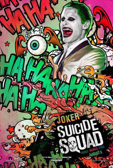 Pop Art Film Promotions - These Suicide Squad Posters Pay Tribute to Each Character's Retro Origins
