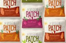 Vivid Vegetable Snack Packaging