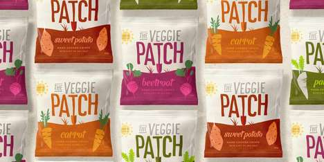 Vivid Vegetable Snack Packaging - This Chips Branding Reflects the Product's Nutritious Qualities