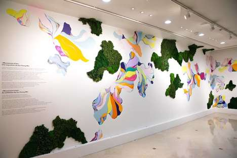 Vegetation Art Exhibitions - This Exhibition Combines Paintings with Natural Vegetation