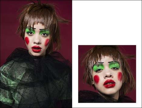 Theatrical Beauty Editorials - BEAUTY SCENE's La Comedia Series Spotlights Vivid Clown Makeup