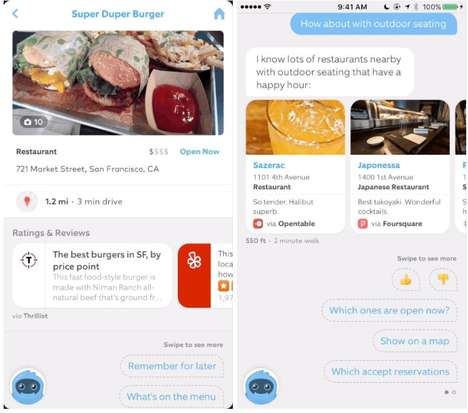 Restaurant-Finding AI Bots - The 'Ozlo' Chatbot Provides Users with the Best Food Options