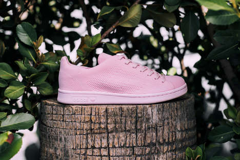 Pink Monochrome Sneakers - The Pink Stan Smith Primeknits Modernize the adidas Classic Model