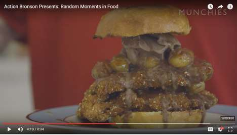 Rapper-Made Food Oddities - Rapper Action Bronson Makes a Deep-Fried Chicken Burger with Ice-Cream