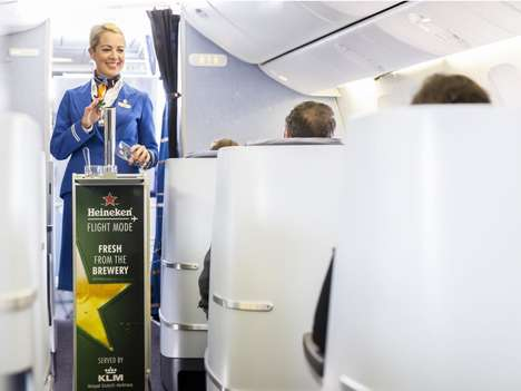 High-Flying Beer Collaborations - Heineken & KLM Will Be Serving Draught Beer on Flights to Rio