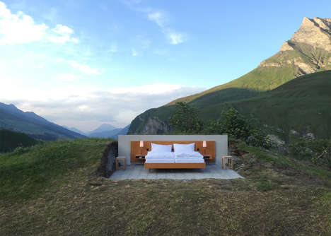 Partition-Free Hotel Rooms - This Open Air Hotel Room is in the Middle of the Swiss Alps