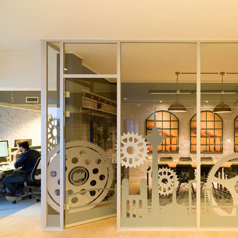 Industrial Office Rooms - This Eclectic Office Features Spaces That Follow Different Themes