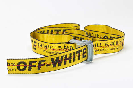 Fashionable Industrial Belts - Virgil Abloh's Branded Extra-Long Belt Features a Utilitarian Design