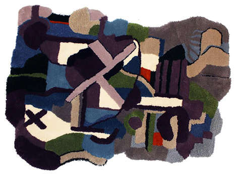 Abstract Art Rugs - Jonathan Josefsson's Artistic Carpet Collection is Modeled After Paintings